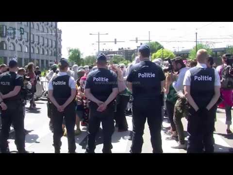 مصر العربية | مظاهرة في بروكسل ضد انعقاد قمة الناتو