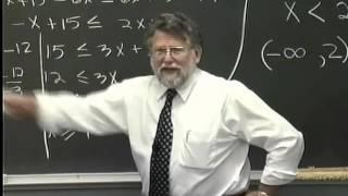Lecture 12: Beginning Algebra (Math 70)
