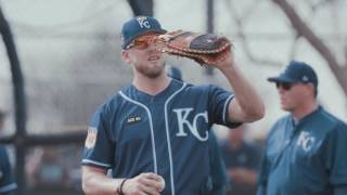 The Wilson Baseball glove team stopped by Kansas City Royals Spring Training camp in Surprise, Ariz., to deliver baseball gloves to members of the Wilson Advisory Staff. Hear how Lorenzo Cain (Custom A2000 1799) shows his gloves some love, what Christian Colon (Custom A2000 1786 SS) likes about his leather and how Ian Kennedy (Custom A2000 1915) chose one of the most unique glove models in the game. For more, visit Wilson.com/GloveDay.