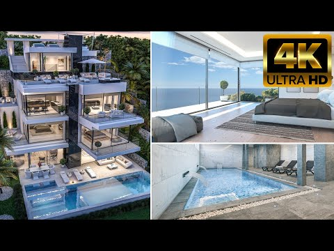 Luxury villa on the 1st sea line in Spain / High-tech style house in Javea on the Costa Blanca / Premium class!