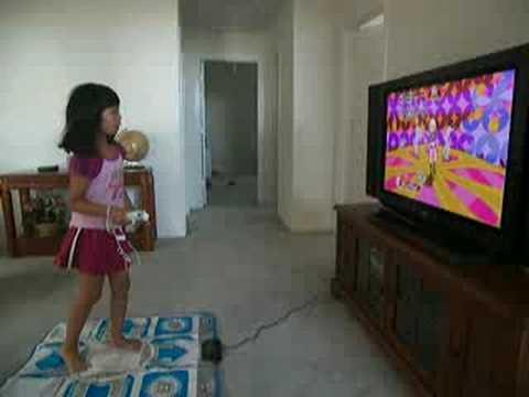 Lylian playing video game