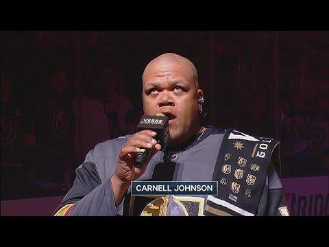 WPG@VGK, Gm3: Johnson performs national anthems