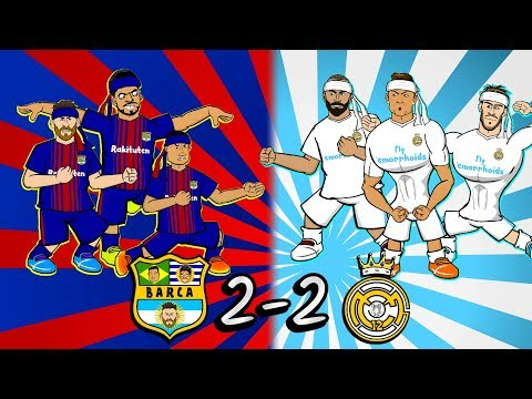 🤜🏻🥋2-2 EL CLASICO: KUNG-FU FIGHTING!🥋🤛🏻 (Barcelona Vs Real Madrid Highlights Goals 2018)