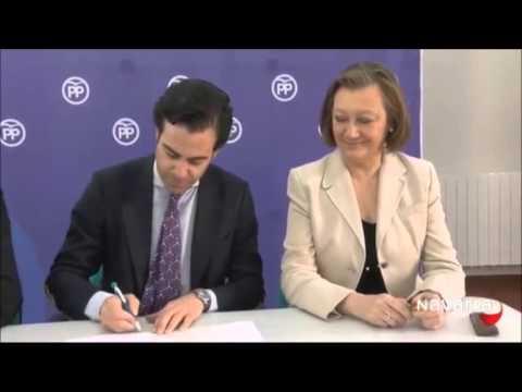 Pablo Zalba y los presidentes del PP de La Rioja y Aragón firman un acuerdo para desarrollar iniciativas conjuntas en torno al Eje del Ebro