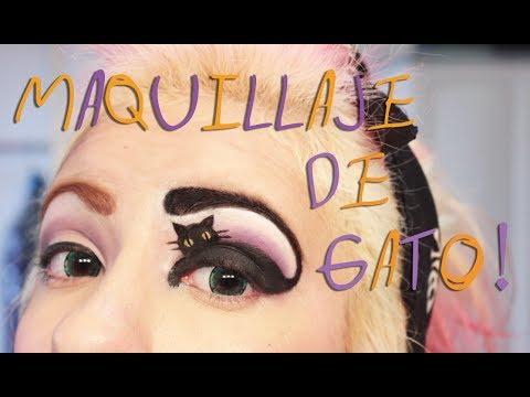 %E2%9E%B5 Maquillaje Para Halloween%21 %E2%9C%9E Gato en un Ojo %E2%98%A0 - Miranda Iba%C3%B1ez