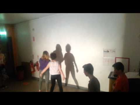 New Lodge Arts. Shadow dance rehearsal.