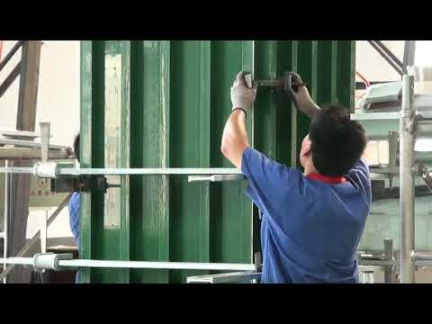 Cách lắp dựng hệ gông và coppha thành hệ cột hoàn chỉnh