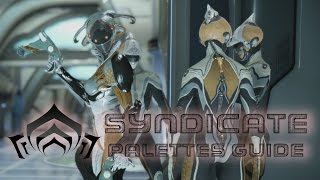 Quick showcase for matching your Warframes to your syndicate for cosplay ideas. You may need to tweak some colors to match because sometimes they can appear different.New Loka 0:24The Perrin Sequence 1:19Red Veil 2:11Steel Meridian 3:05Cephalon Suda 3:52Arbiters Of Hexis 5:02