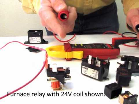relay - Showing how a an electronic furnace and circuit board relay functions.