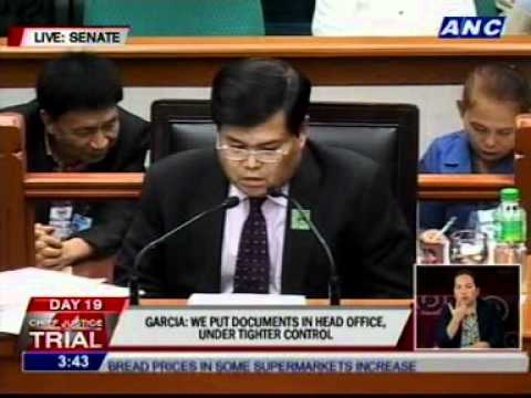 Garcia says 2 other TD accounts closed Dec 12, 2011 - same day House impeached Corona