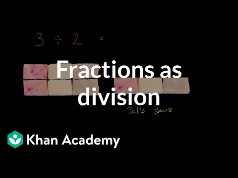 Creating a fraction through division video khan academy ccuart Gallery