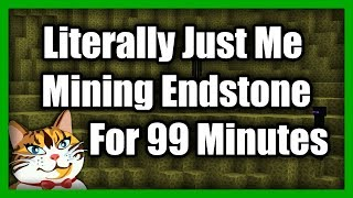 Literally Just Mining End Stone For 99 Minutes