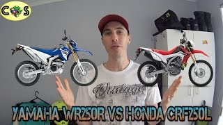 7. WR250R vs CRF250L: Comparison Review