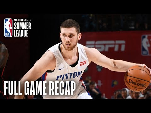 Video: TRAIL BLAZERS vs PISTONS | Svi Mykhailiuk Leads Detroit | MGM Resorts NBA Summer League