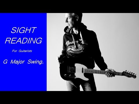 Sight reading sheet music for electric guitar.  Practice this piece in G major.