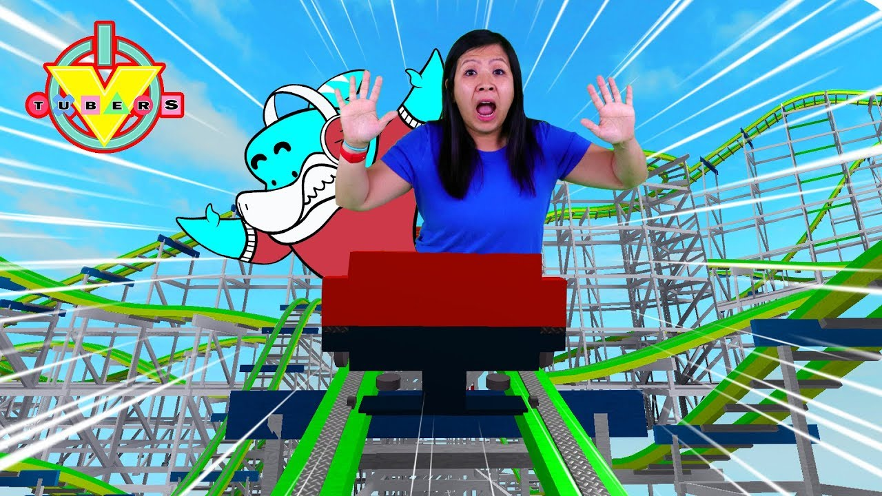 Ryan's Mommy at Amusement Park Rollercoaster in ROBLOX BLOX WORLD Let's Play with Big Gil - YouTube