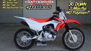 7. 2016 Honda CRF125F Review of Specs / Dirt Bike SALE @ Honda of Chattanooga TN (CRF125FG)