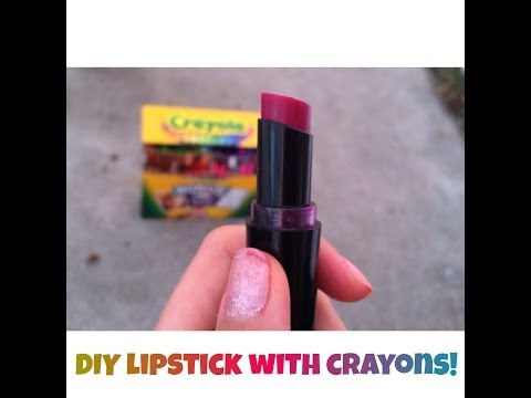 crayons - I teach you how to make lipstick with crayola crayons! This recipe is cheap, fun, easy and so cute! My lipsticks I made are creamy, moisturizing and have gre...