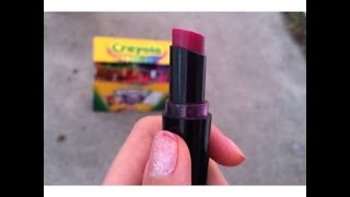 DIY lipstick with crayons!! - YouTube