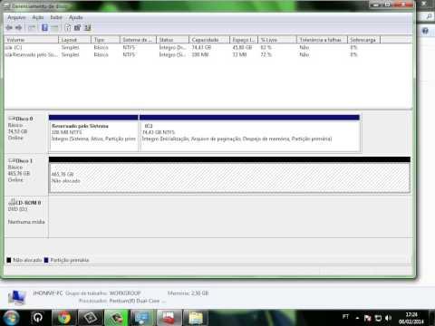 corrigindo erro do HD Externo , HD de 500Gb virou 31,9 Gb solução
