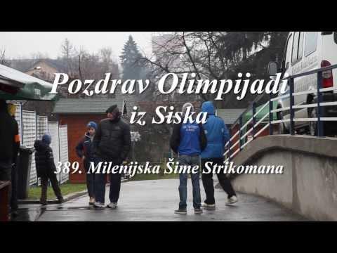 Pozdrav Olimpijadi iz Siska - 389. Milenijska Šime Strikomana