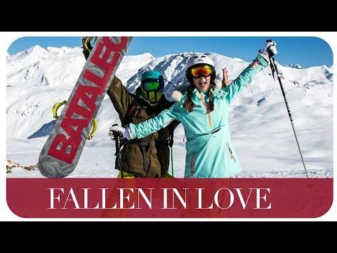 skiing falling in love