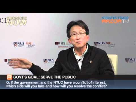 labour movement - Q&A section Part 2/4 Lim Swee Say, Minister (PMO) & Secretary-General, NTUC, on the labour movement in singapore (Mandarin) at Lee Kuan Yew School of Public ...