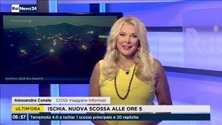 Alessandra Canale in collegamento con Micol Pieretti Rai News 24 Aggiornamenti CCISS 23/08/2017
