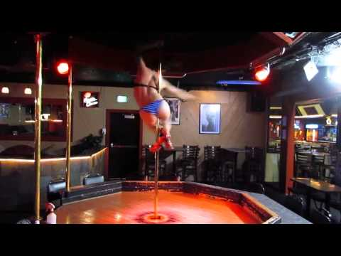 This Stripper Would Probably Destroy You in a Fight... Most Athletic Pole Routine Ever