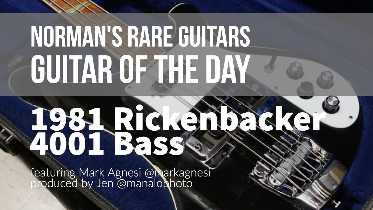 Norman's Rare Guitars – Guitar of the Day: 1981 Rickenbacker 4001 Bass