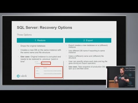 Rubrik SQL Live Mount in the Public Cloud (видео)