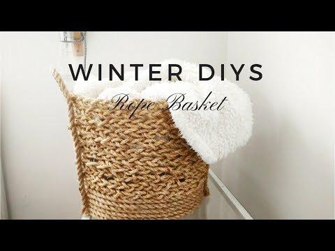DIY WINTER DECOR   Woven Rope Basket