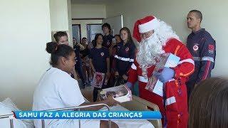 Crianças internadas em hospital de Bauru recebem a visita do Papai Noel
