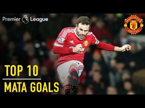 Top 10 Juan Mata Premier League Goals | Manchester United