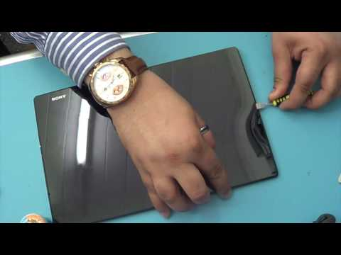 How to replace sony xperia z2 tablet Broken lcd screen