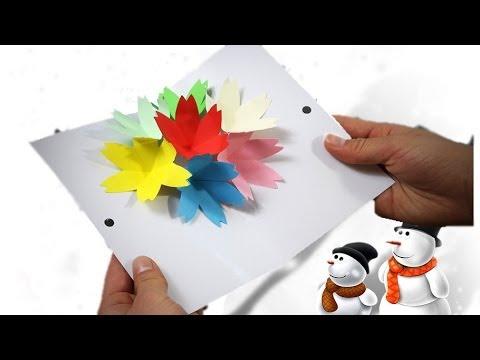 Сделать снежинки 3д иКак сделать открытку папе