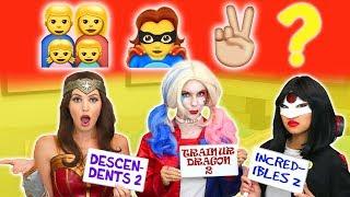 Video GUESS THE EMOJI MOVIE CHALLENGE. (Is it Descendants 2, Incredibles 2 or Train Your Dragon 2?) MP3, 3GP, MP4, WEBM, AVI, FLV Juni 2018