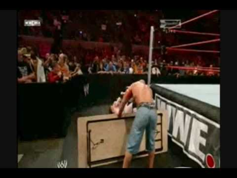 John Cena VS. Sheamus (Tables Match) Part 1/2