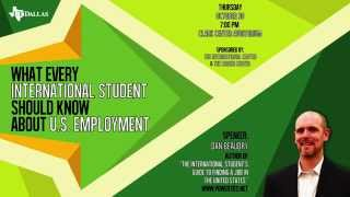 U.S Employment Workshop Promo