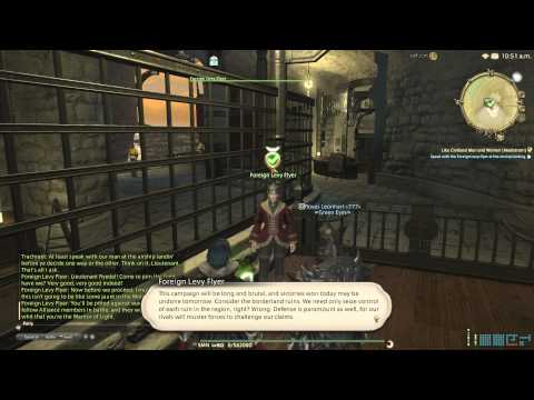[PS4] Final Fantasy XIV ARR 2.3 – Like Civilized Men and Women (Maelstrom) – Unlocking Frontlines