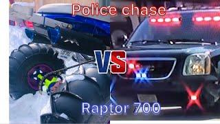 7. yamaha raptor 700 police chase !! motovlog
