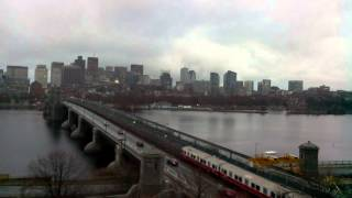 Sunset Time-Lapse Over Longfellow Bridge - Dec 22, 2014