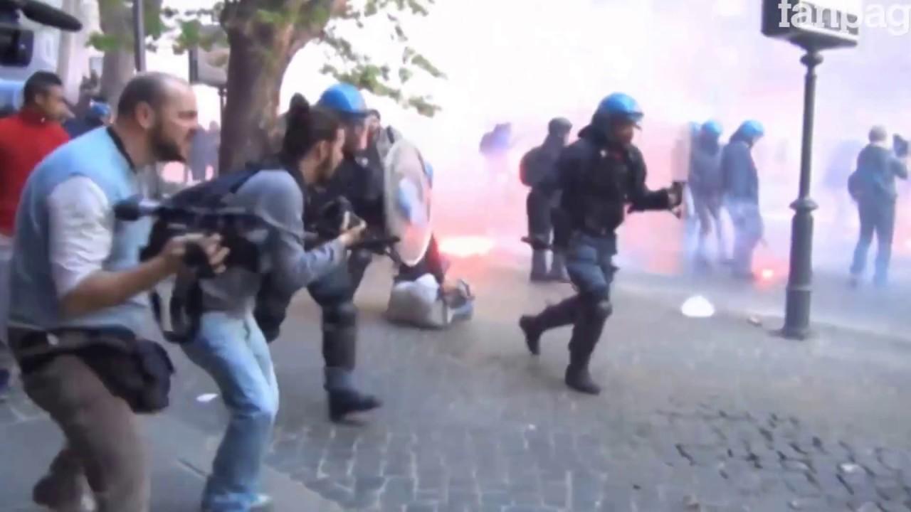 Πρωτομαγιά 2017: Συγκρούσεις διαδηλωτών με αστυνομικούς στο Τορίνο