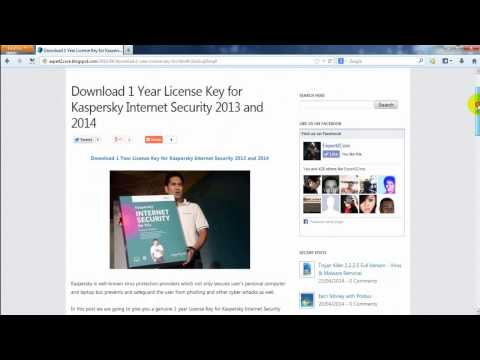 How to Download 1 Year License Key for Kaspersky Internet Security 2014