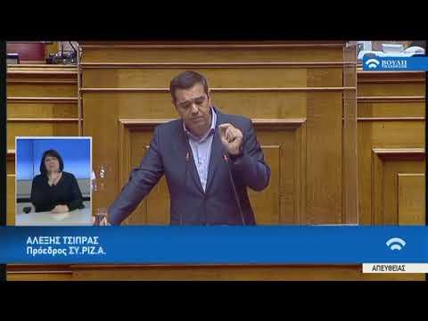 Α.Τσίπρας  (Πρόεδρος ΣΥ.ΡΙΖ.Α) (Επέκταση Προκαταρκτικής Εξέτασης)(19/05/2020)