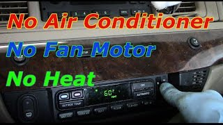 In this video I will show you how diagnose and repair No Air Conditioner - No Blower Motor -No Heat.I will also show you how to replace the blower motor 2008 Mercury Grand Marquis /Ford Crown Victoria .