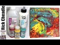 245 Paint Pouring with GOLDEN GAC 100,  GOLDEN Fluid Acrylics and  Isopropyl Alcohol