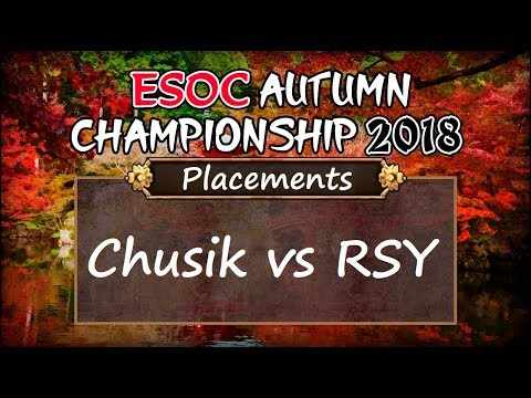 [AoE3] ESOC Autumn Championship 2018 — Placements: Chusik Vs RSY