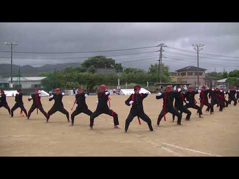 2017年天城中学校応援午前演舞 紅軍