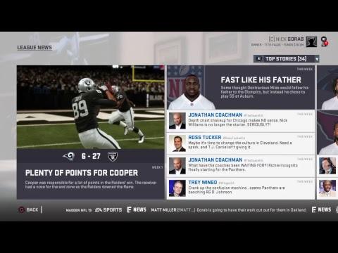 Madden NFL 19 Oakland Raiders Franchise S1 E1